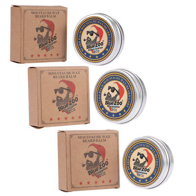 Mens Grooming Kit Moustache Wax Moisturizing Beard Growth Oil Shaving Cream