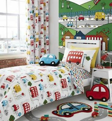 Catherine Lansfield Transport Kids Duvet Cover Bedding Bed Set Or Accessories