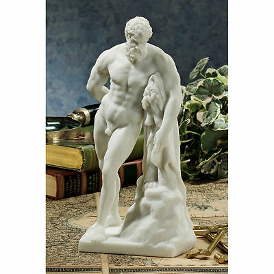 Ancient Roman Greek Hercules Statue Immortal Helper of Gods & Men Sculpture