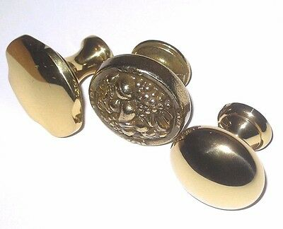 NEW Lot of 9 Vintage AMEROCK Solid Brass Knobs Cabinet Door Desk Drawer Handles