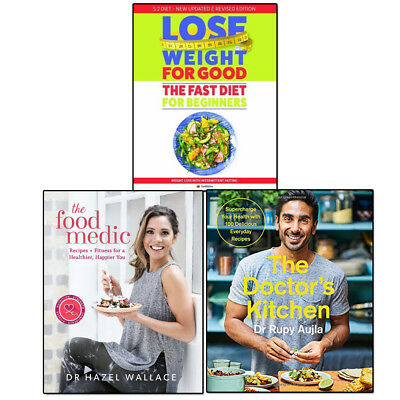 Doctor's Kitchen, Food Medic and Fast Diet Collection 3 Books Set Lose Weight