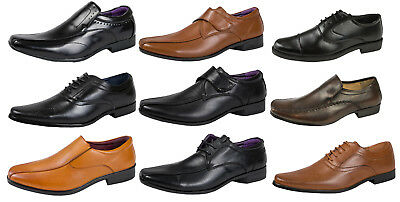 5c43b76442251 Mens Boys Faux Leather Formal Shoes Work Office School Comfort Shoe Wedding  Size