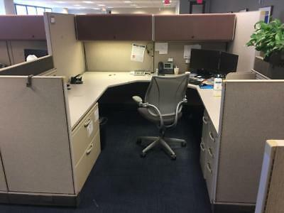 Bon Used Office Cubicles, Herman Miller AO2 Cubicles 8x8