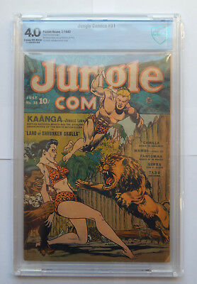 Jungle Comics #31 by Fiction House Comics (July 1942) CBCS 4.0 VG
