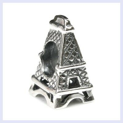 Sterling Silver Travel Eiffel Tower Vacation Bead for European Charm Bracelet