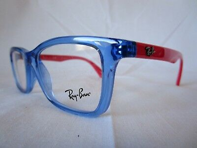 5d87793cc34 RAY BAN YOUTH Eyeglass Frame Ry1562 3746 Crystal Blue 46-16-125 New ...