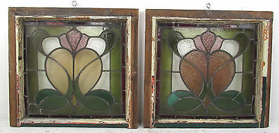 Vintage Antique Stained Glass Window - SINGLE (2778)NJ
