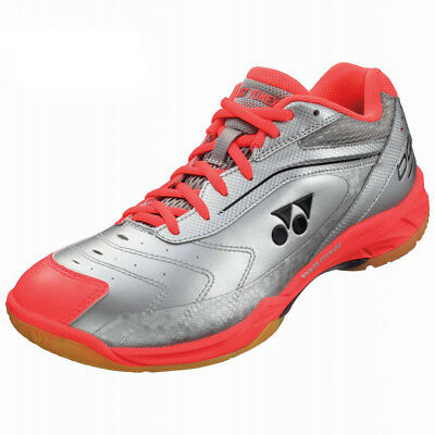 Yonex Power Cushion SHB 65 Men's Indoor shoes sneakers - Silver/Red - Reg $140