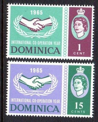 1965 DOMINICA INTERNATIONAL CO-OPERATION YEAR SG185-186 mint unhinged