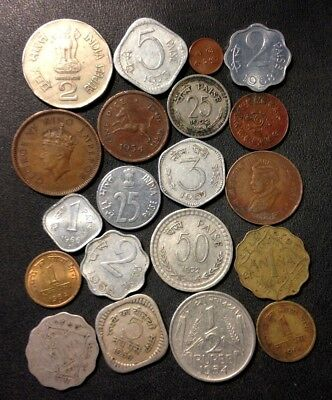 Old India Coin Lot - 1901-PRESENT - 20 Excellent Coins - Lot #J22