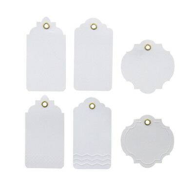 American Crafts Ms. Sparkle & Co. Paperie Neutral Tags with Strings - Stationery