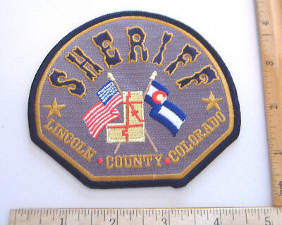 ~Lincoln  County~Colorado~Fabric Sheriff Patch~