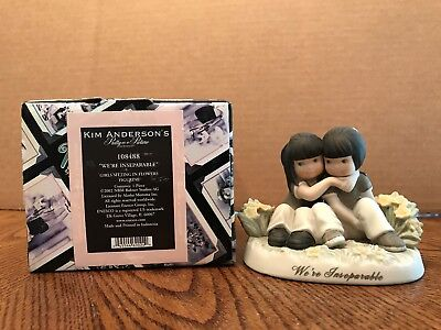 """Enesco Pretty As A Picture """"We're Inseparable"""" Girls Sitting In Flowers  108488"""
