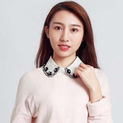 Detachable Chiffon Peter Pan Women Lapel Shirt Fake Collar Choker Necklace