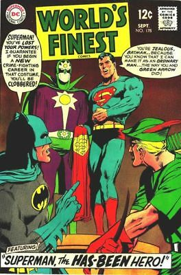 WORLD'S FINEST COMICS #178 G, SUPERMAN, BATMAN, Neal Adams C, DC Comics 1968