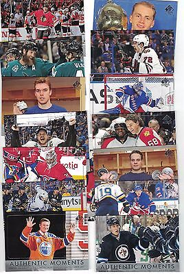 """16-17 SPA """"AUTHENTIC MOMENTS"""" COMPLETE 15 CARDS #101-115 GRETZKY MATHEWS McDAVID"""