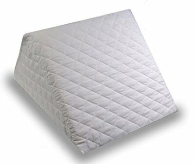 Bed Wedge Pillow Cushion Made In Foam With Removable And Washable Quilted Cover