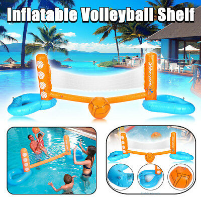 Inflatable Swimming Pool Floating Volleyball Net With Ball Beach Water Toy Game