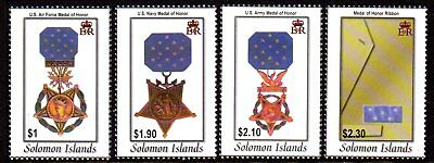 2003 SOLOMON ISLANDS MEDALS OF HONOUR SG1046-1049 mint unhinged
