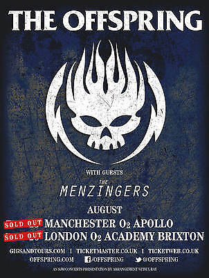 The Offspring / The Menzingers / 2015 United Kingdom Concert Tour Poster