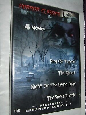 Night of the Living Dead/The Ghost/ Snake People / Ring of Terror DVD NEW R1
