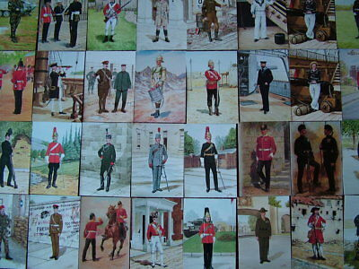 100 Unused POMPADOUR GALLERY, MILITARY/ART Postcards.  Mint condition.