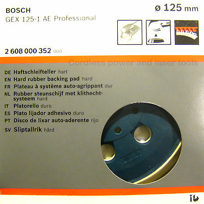 Bosch GEX 125-1 AE HARD Sanding Pad 125mm Rubber Base Plate 2608000352