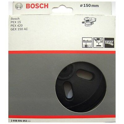Bosch MEDIUM Sanding Pad 150mm Rubber Base Plate PEX 15 420 GEX 150 A 2608601052