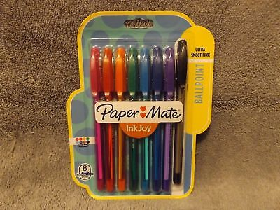 Paper Mate InkJoy 100ST Ballpoint Pens, Medium Point, Assorted Ink, 8 Pack