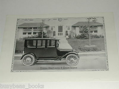 1920 Dodge Brothers Motor Car advertisement, full page photo DODGE sedan
