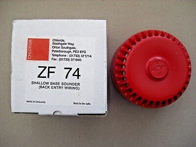 £10.80 Fulleon Roshni Conventional Red Wall Sounder 9-28v Chloride ZF74