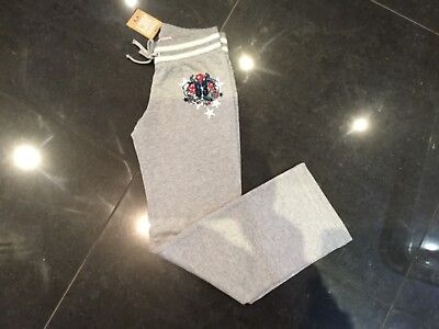 NWT Juicy Couture New & Gen. Grey Cotton Tracksuit Pants Girls Age 8 With Logo