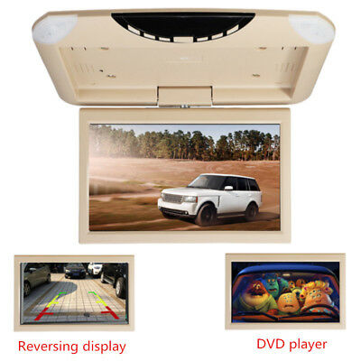 10.1'' LCD HD Car Roof Mounted Flipdown Overhead DVD CD Monitor Player Games