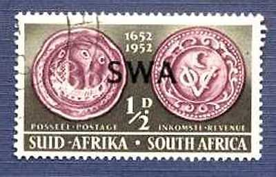 "South West Africa 1952-#166-""swa"" Overprint-Used"
