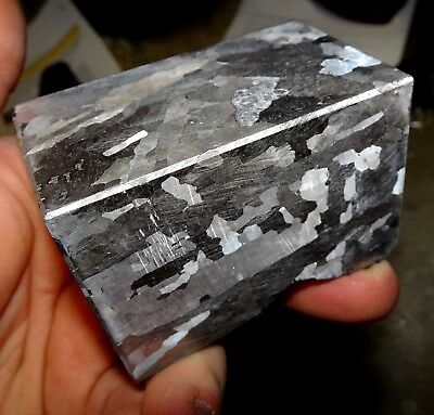 Beautiful 934 Gm. Etched Campo Del Cielo Meteorite Cube
