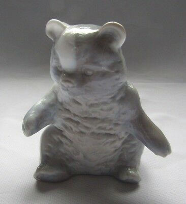 Mosser Glass Grizzly Teddy Bear (Gray With White Ear)