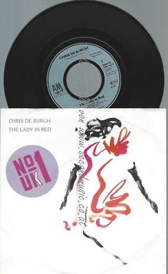 "7""  Chris De Burgh ‎– The Lady In Red"