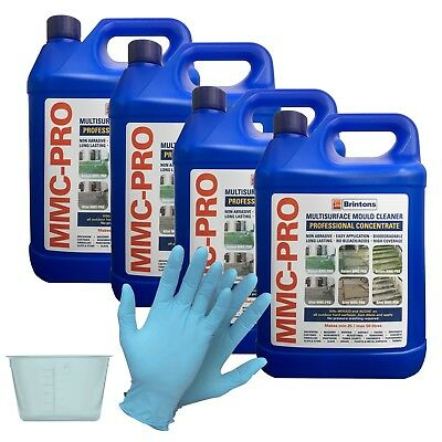 MMC PRO - 4 X 5L CONCENTRATED MOSS AND ALGAE KILLER + FREE 120ml POT & GLOVES