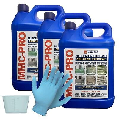MMC PRO - 3 X 5L - CONCENTRATED MOSS AND ALGAE KILLER + FREE 120ml POT & GLOVES