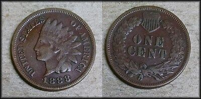 1888 Indian Head Penny - NICE! - Free Shipping! - BBIN