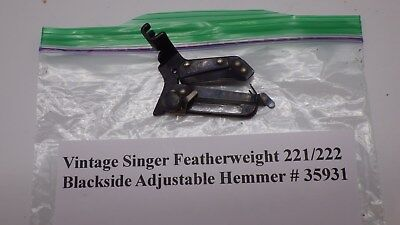 Vintage Singer Featherweight Sewing Machine Blackside Adjustable Hemmer #35931
