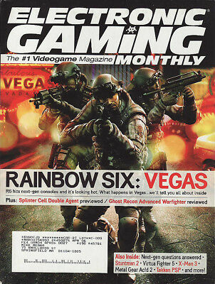 ELECTRONIC GAMING MONTHLY MAGAZINE - USA  issue 222 - APRIL 06 - R6 VEGAS cover