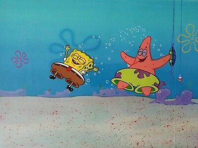 Nickelodeon TV SpongeBob Original Animation Art Master Background Cel Set Up #28