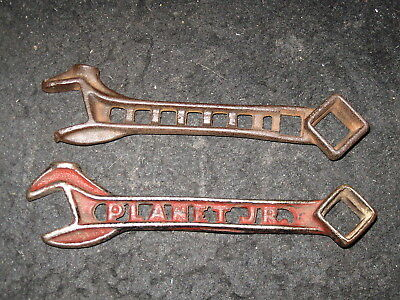 2 Vintage Cut Out Implement Wrench Tool Planet Jr Farm Plow Tractor