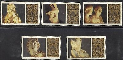 1977 Vatican 5 Classical Sculpture Masterpieces in Vatican Museums MNH