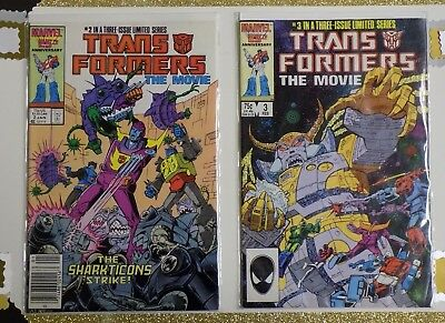 "Transformers: The Movie Comics Lot  #2 & #3 ""VF/NM"" -Marvel- 2 Comics"