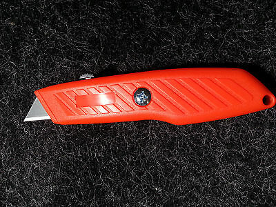 "PACIFIC HANDY ECONOMY 6.25"" UTILITY BOX KNIFE CUTTER color - ORANGE find it easy"