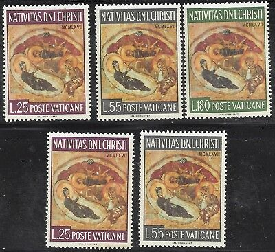 1967 Vatican set of 3 + 2 extra Christmas The Holy Family MNH