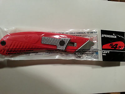 Pacific Handy Cutter S4Sl Left Spring Back Safety Utility Box Cutter Knife