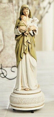 Madonna And Child Jesus Innocence Statue Musical Plays Brahms' Lullaby